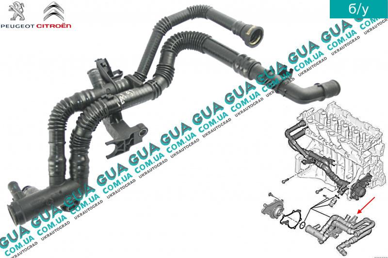 патрубок системы охлаждения peugeot 306 1.4 99г